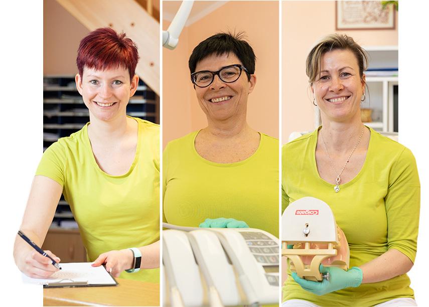 Das Team der Zahnarztpraxis in Bannewitz bei Dresden